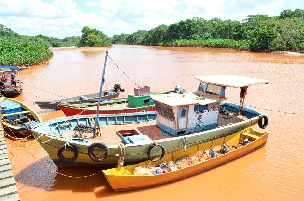 A tragédia provocada pela lama da Samarco/BHP/Vale é prova do que o mau licenciamento ambiental por provocar. Foto de Paulo de S. Lima/350.org Brasil na foz do Rio Doce no Espírito Santo.