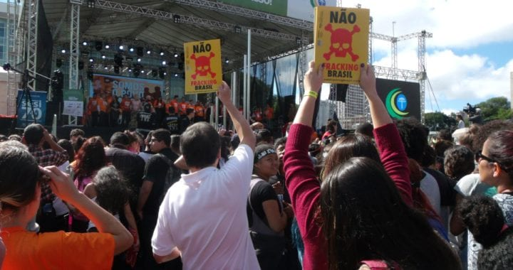 Campanha Não Fracking Brasil mobiliza comunidade evangélica na Marcha para Jesus