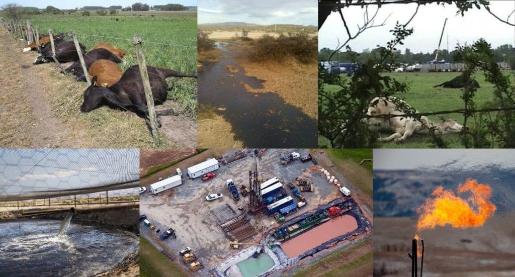 Os impactos da exploração do petróleo e gás de xisto por fracking são irreversíveis. Fotos: Internet