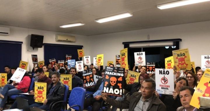 Audiência sobre fracking mobiliza Santa Rita do Pardo