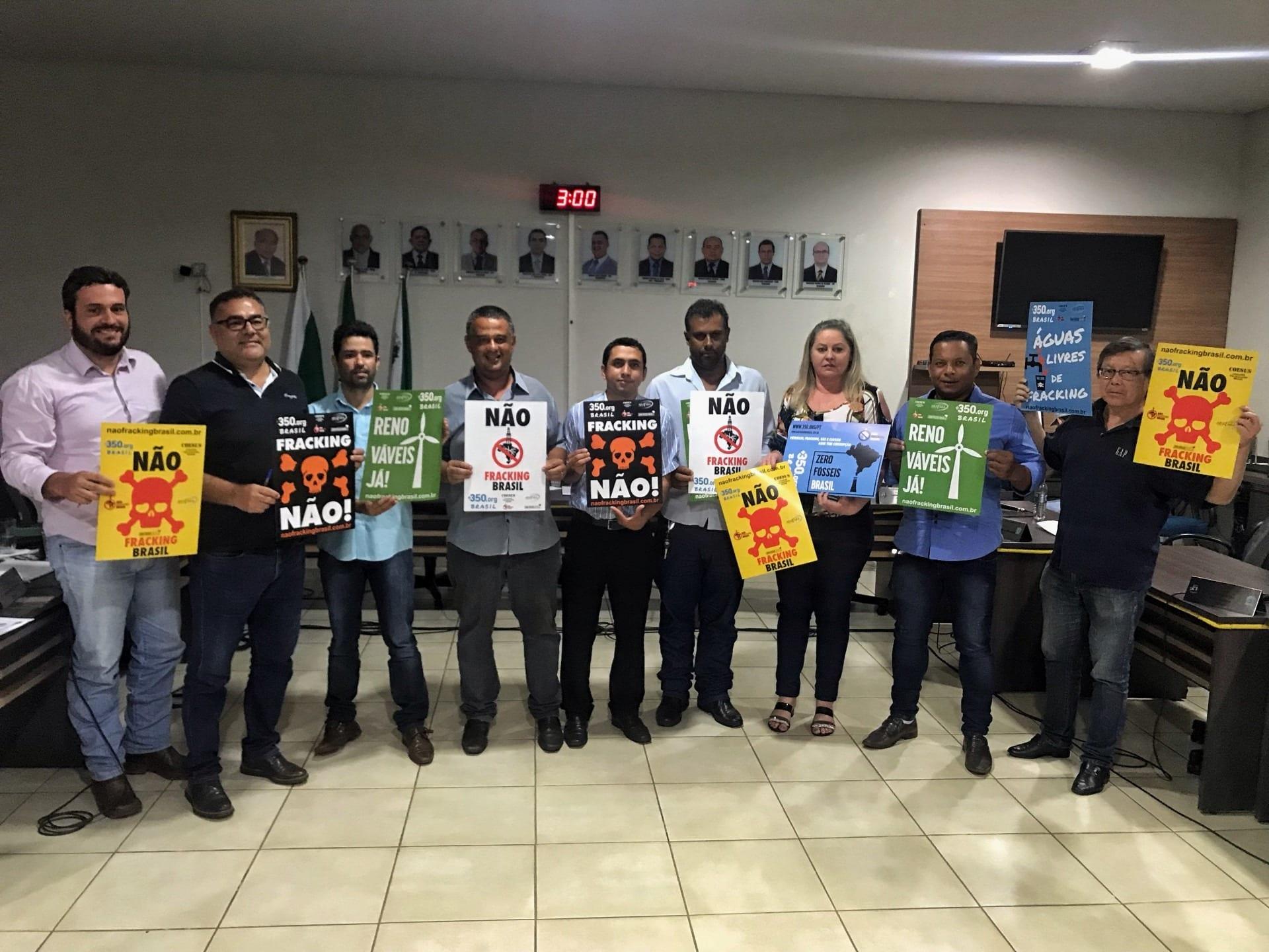 Audiência pública alerta município de Deodápolis (MS) sobre riscos do fracking